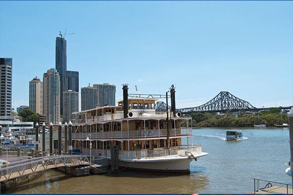 Boat on the Brisbane river