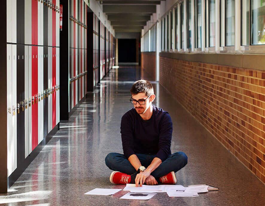 Students on the hallway