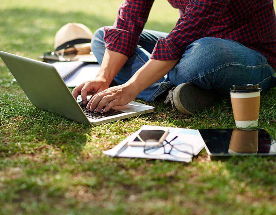 Studying barefoot