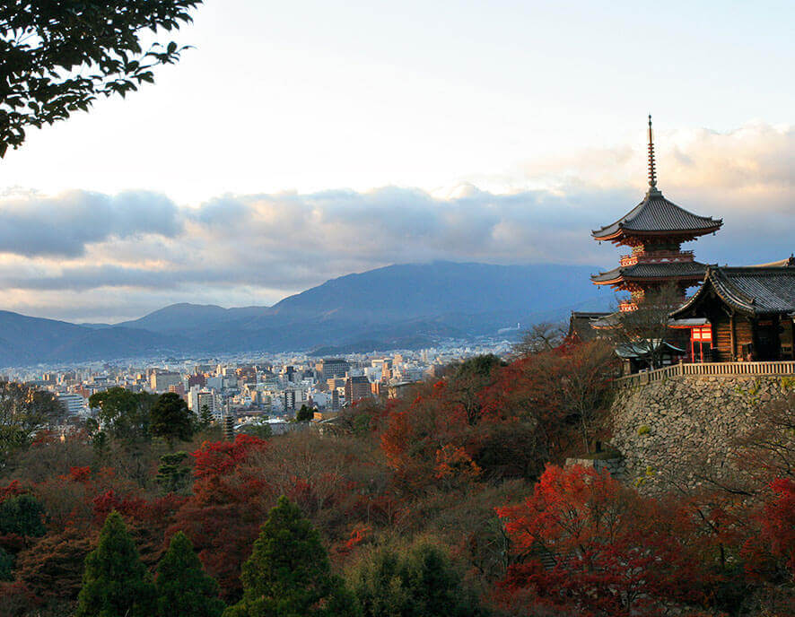 View on a japanese city